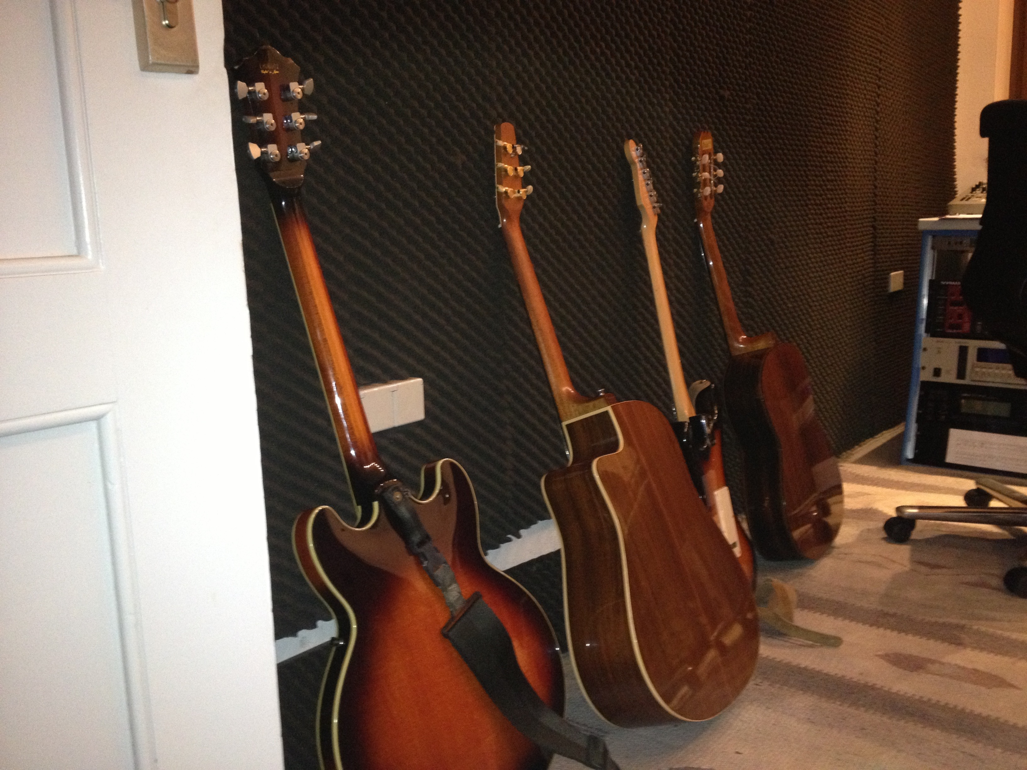 some guitars at CrossRecords